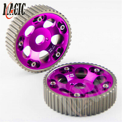 Adjustable Cam Gears Pulley Timing Gear for TOYOTA Supra 1JZ 2JZ purple 2PCS