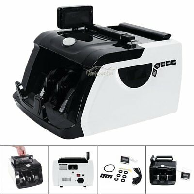 Hot! Money Bill Cash Counter Bank Machine Currency Counting Uv & Mg Counterfeit