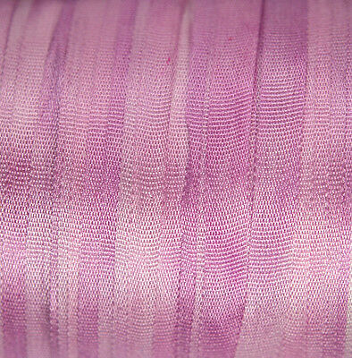 Silk Ribbon for Embroidery 4mm - 3 meters Pale Magenta