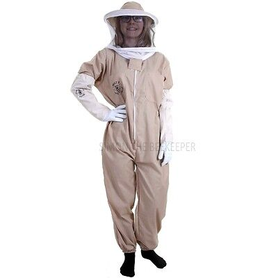 [FR] Buzz Basic Beekeepers Suit With Round Veil And Gloves - Khaki