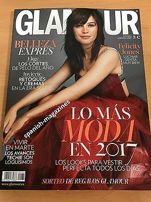 Felicity Jones Glamour Spain January 2017 Star Wars Rogue One Different Cover