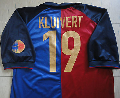 Nike Barcelona 99/00 Centenary Home Jersey - Kluivert 19. Exc Condition, Mens XL