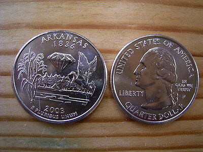 "2003d  usa state  quarter ""arkansas"" dollar coin collectable"