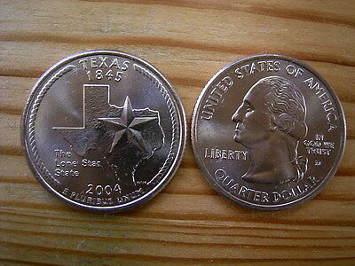 "2004d  usa state  quarter ""texas"" dollar coin collectable"