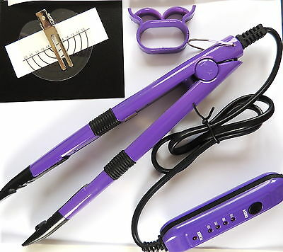 HOT FUSION HEAT CONNECTOR iron FOR  BOND HAIR EXTENSIONS with instuctions