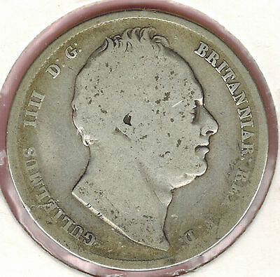 Great Britain, 1836, Half Crown, William IV, Silver 92.5%, 179 years old