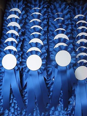 5 blank/print your own rosettes for any occasion .Blue
