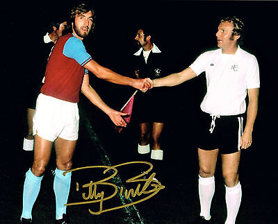 BILLY BONDS WEST HAM UNITED HAND SIGNED PHOTO AUTHENTIC GENUINE + COA - 10x8