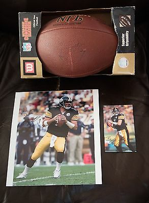 Ben Roethlisberger - Signed Football, Signed Card, Signed Photo - Steelers