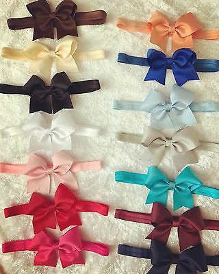 Baby Girls Kids Hairband Bow Elastic Band Headband Flower Hair Accessories +Lot