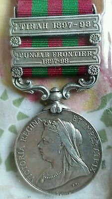 1895 Indian General Service Medal 2 Bars Indian Army.