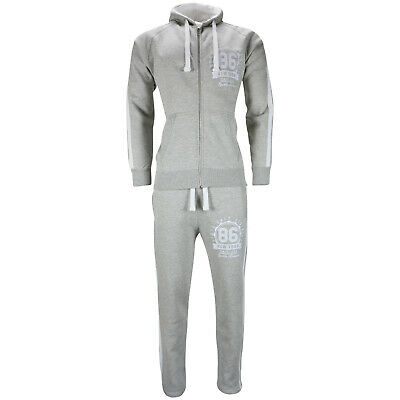 New Mens Tracksuit Set Fleece Hoodie Top Bottoms Jogging Joggers Gym Trackies NY
