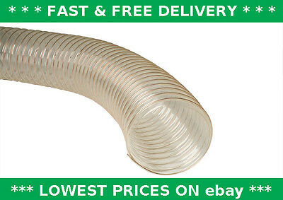 PU clear flexible ducting hose, ventilation, fume & dust extraction, woodworking