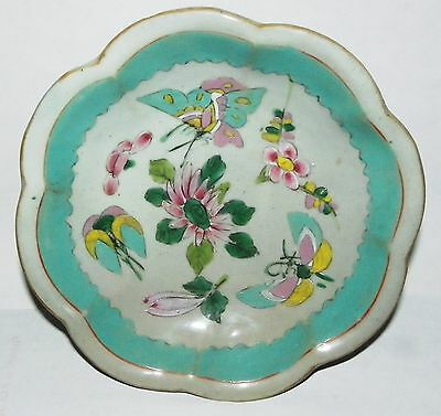 Antique Chinese Hand Painted Porcelain Footed Bowl