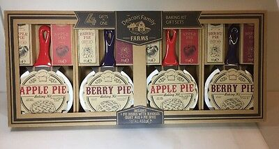 Luxury Apple / Berry Pie Baking Kit  with dish crust mix and spice Mix . Baking