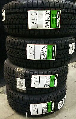 N° 4 GOMME INVERNALI USATE  mis 205/45 R17 88V XL – RIKEN (Lotto 516 )