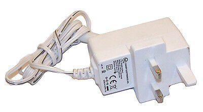 Leader MV12-Y120100-B2 12VDC 1A UK AC Adapter with Barrel Connector   Cream