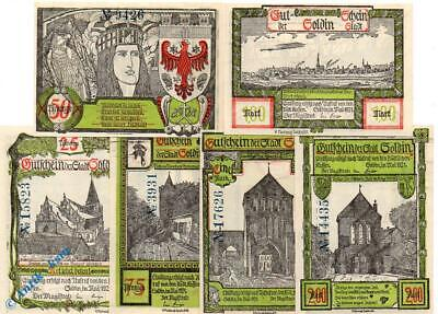 6 x Top Notgeld Soldin , grün , german emergency Money unc, komplett , kfr