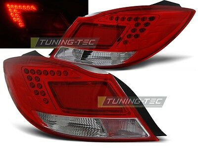 Neuf Feux Arriere Esemble Ldop28 Opel Insignia 08- 4D/hb Red White Led