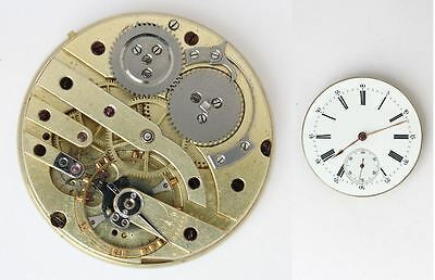 Vintage pocket watch movement unknown for parts / repair. Great condition (4698)