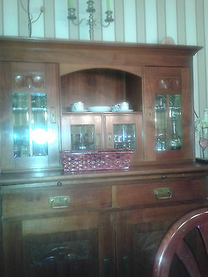 antike vitrine mit aufsatz jugendstil gr nderzeit eur 850 00 picclick de. Black Bedroom Furniture Sets. Home Design Ideas