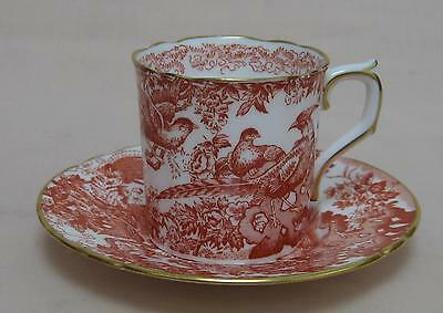 Royal Crown Derby Red Aves COFFEE CAN & SAUCER