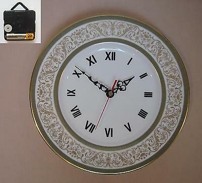 "Minton Aragon 10.75"" Wall Hanging Plate CLOCK"