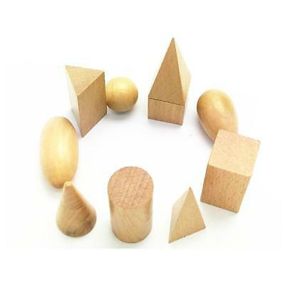 Baby Kids Early Learning Educational Toy Montessori Geometry Wooden Toy Gift