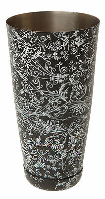 Boston Can Patterned Black 28fl oz | Cocktail Shaker