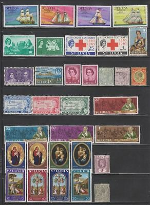 St. Lucia Small Collection of 33 Stamps MNH/MLH/CTO/Used