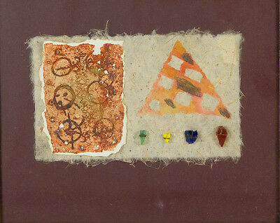R. Blackmore - 1986 Mixed Media, Abstract Collage