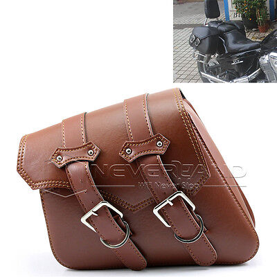Motorcycle PU Leather Tool Side Bag Saddle Bag For Harley Sportster XL883 XL1200