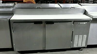 """Used Beverage Air DP67 67"""" Refrigerated Pizza Prep Table"""