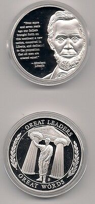 Abraham Lincoln Silver Plated Coin