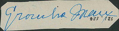 C1930S Autograph-Famous Comedic Actor-Groucho Marx Of The Marx Brothers