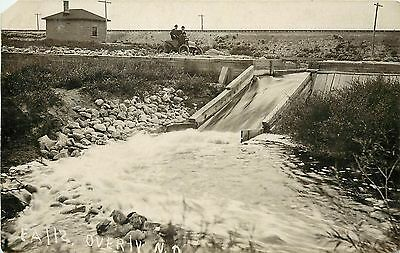 c1910 RPPC Postcard; Dam Spillway Falls, Overly ND Bottineau County Posted