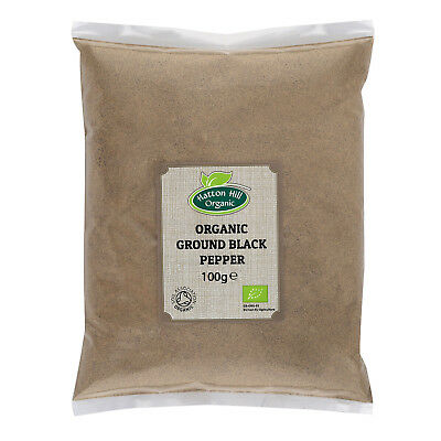 Organic Ground Black Pepper 100g Powder Certified Organic