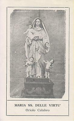 Santino Holy Card Image Pieuse - Maria Ss. Delle Virtu' In Calabria
