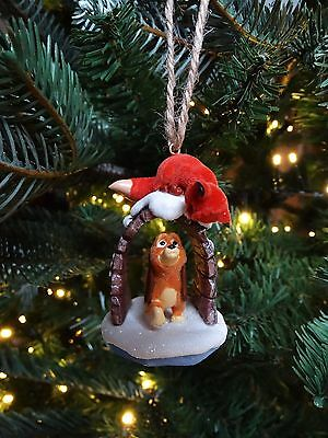 Disney Store Tod And Copper Fox And The Hound Xmas Decoration Ornament Bauble