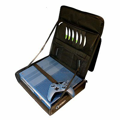XBOX ONE Travel Bag & PS4 Console Carry Case with Adjustable Padded Strap