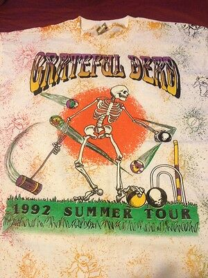 Grateful Dead Shirt T Shirt Croquet Vintage  Summer Tour 1992 Country Club XL