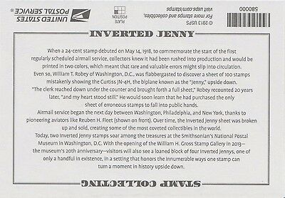 Commemorative stamp package, the 1918 24-cent Inverted Jenny stamp
