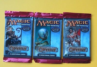 MTG Magic ** ODYSSEY ** 3 Booster Pack Englisch  -  45 Cards