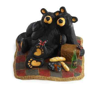 Bearfoots Butterfly Picnic Figurine by Jeff Fleming for Big Sky Carvers #3005080