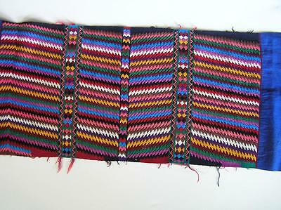 "Vintage Colorful Ethnic Runner hand woven 15"" x 48"""