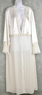 Vintage Delicates Ivory Night Gown Robe SIZE 3X