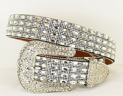 Ice Bling Rhinestone Belt Clear Stones