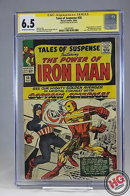 Tales of Suspense #58 10/64 CGC 6.5 SS Stan Lee Captain America Iron Man Marvel