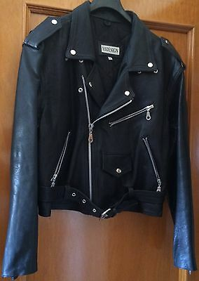 Giubbotto Modello CHIODO NERO VINTAGE VERA PELLE LEATHER  HAPPY DAYS FONZIE