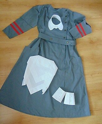 QAIMNS military GREY shade NURSE  complete COSTUME small 36-40 chest WW1 WW2